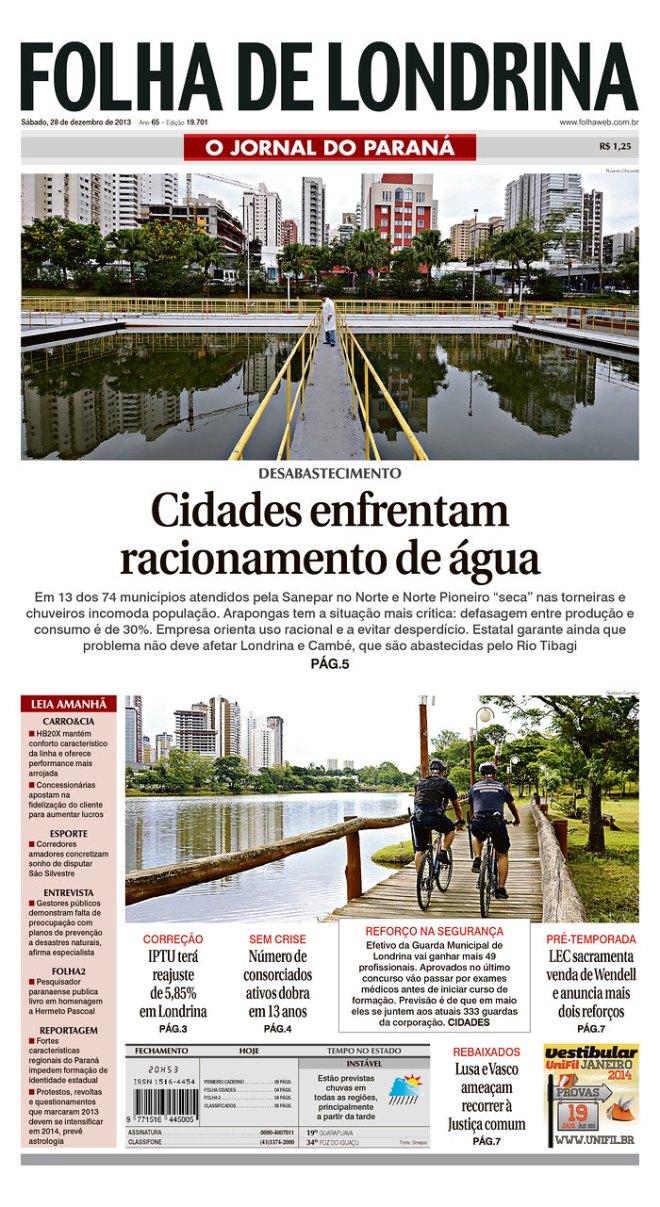 BRA_FDL racionamento água Londrina
