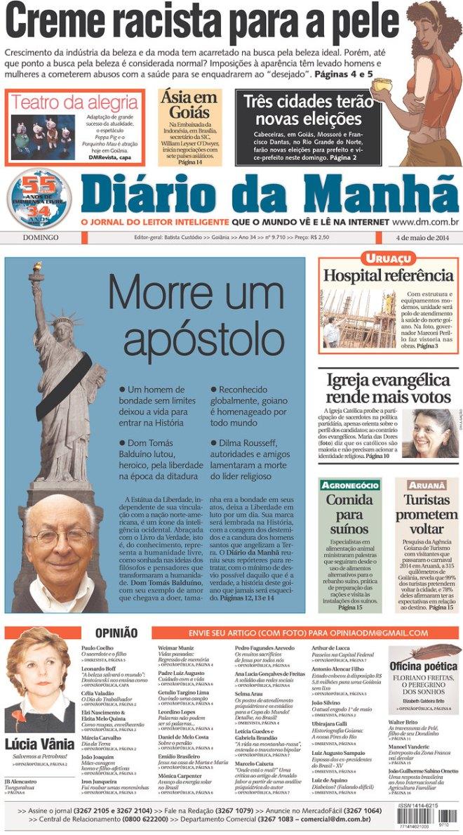 POR QUE O PESO DA ENLUTADA ESTÁTUA DA LIBERDADE NA CABEÇA DE DOM BALDUÍNO? UMA HOMENAGEM AOS BRASILEIROS RETIRANTES QUE VIVEM EM NOVA IORQUE?