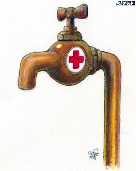 Ou falta ou tem água poluída, por Jean Gouders