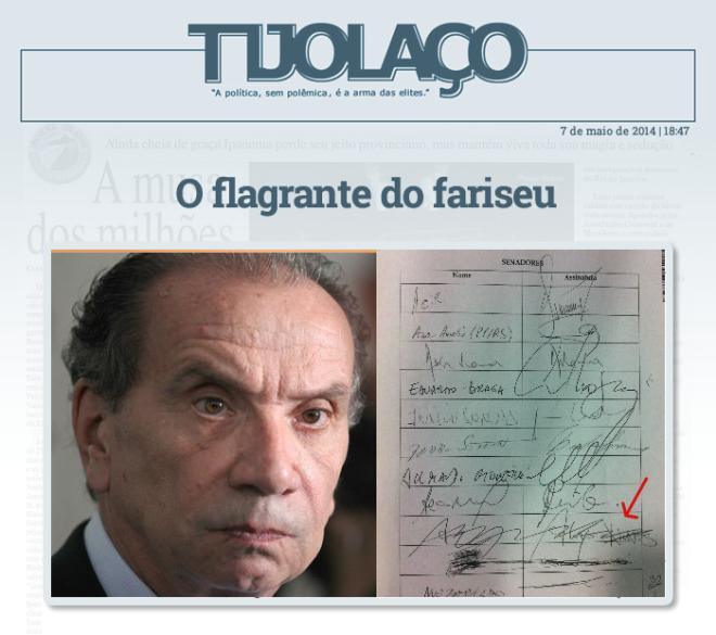 Fernando Brito: Deprimente o gesto do senador Aloísio Nunes Ferreira, líder do PSDB, de assinar e depois riscar seu nome na lista para a criação de uma CPI para apurar a corrupção na compra dos trens do Metrô e da CTPM paulistas.