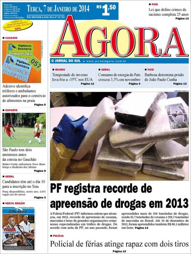br_agora. drogas 2013 cocaína
