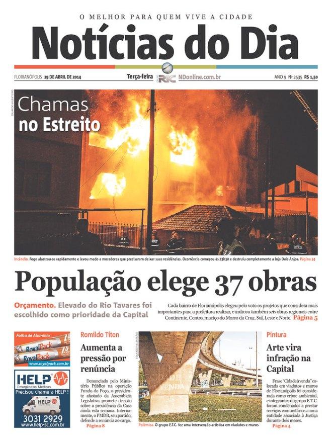 Florianópolis. Por tras de cada incêndio sempre existe um Nero