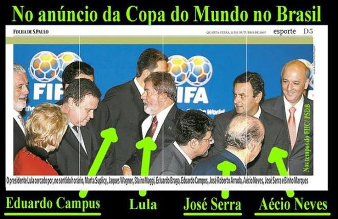 copa futebol Aécio Eduardo