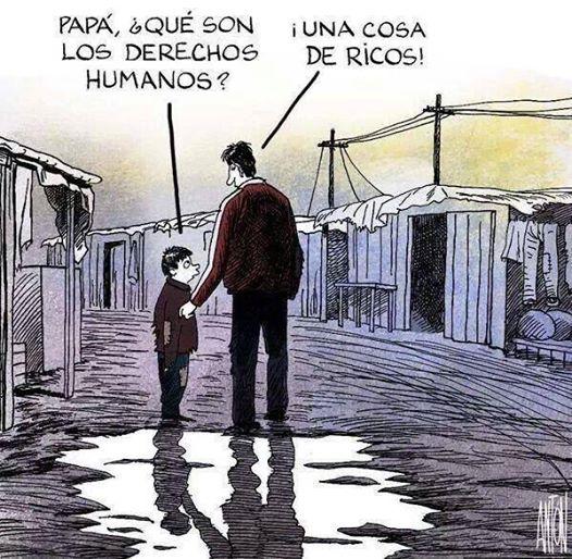 direitos humanos rico pobre justiça
