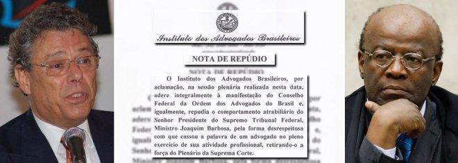 Joaquim Barbosa repudiado