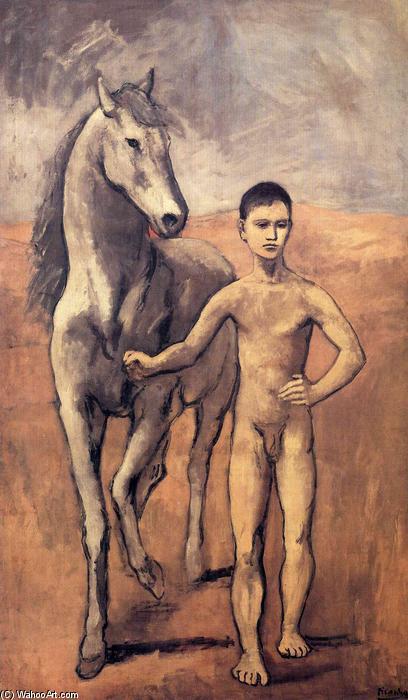 Pablo-Picasso-Boy-leading-a-horse