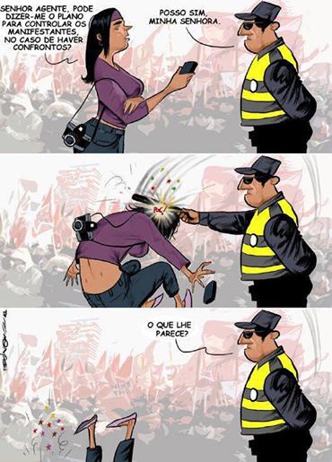polícia protesto copa repressão