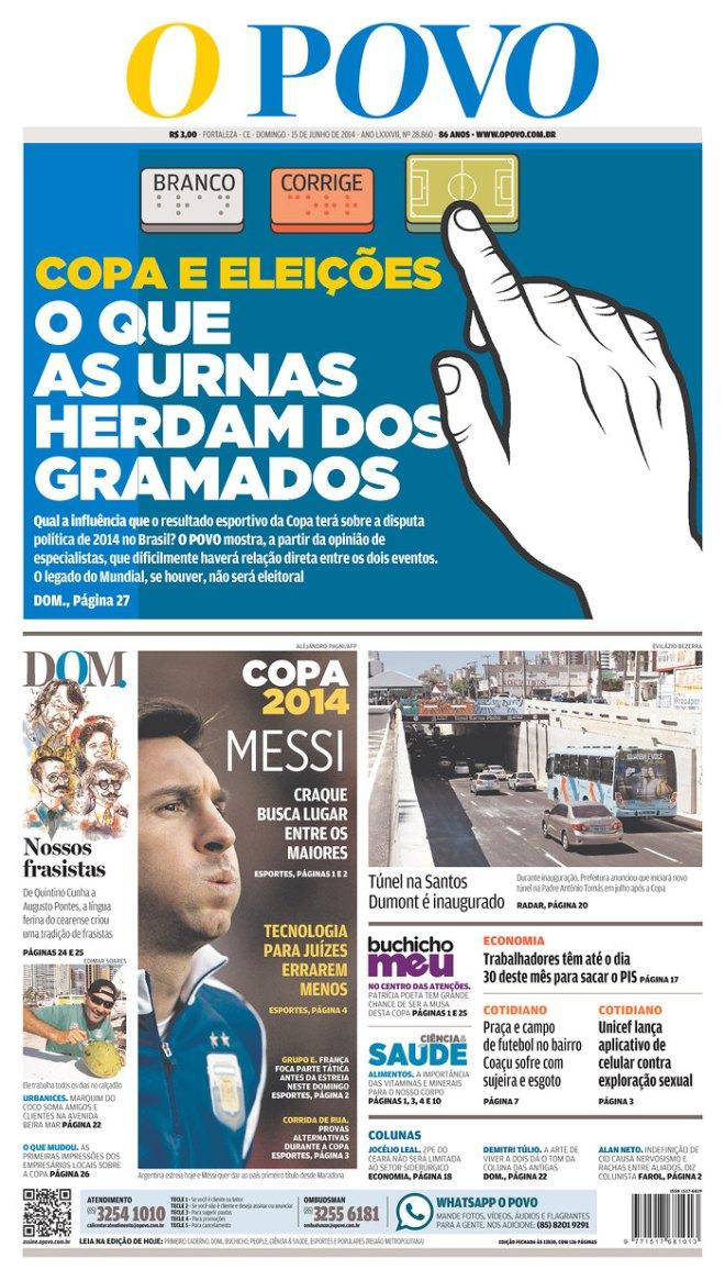 BRA_OPOVO Copa eleições Ceará