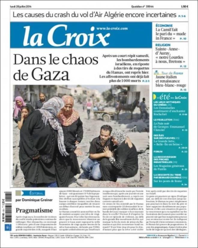 lacroix. França Gaza