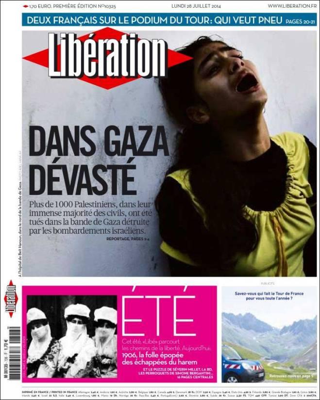 liberation. França Gaza