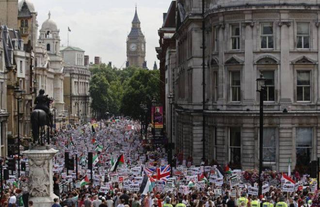 Londres contra o holocausto em Gaza. Foto Luke MacGregor