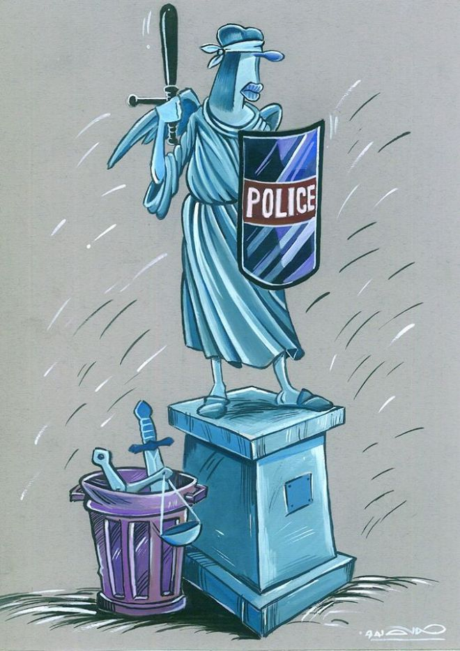 polícia justiça repressão prisão