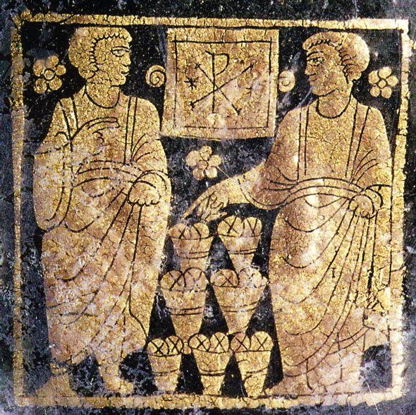 A multiplicação dos pães (Arte paleocristã)