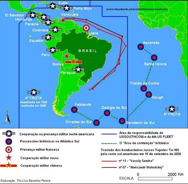 Brasil cercado exérciro defesa colonialismo