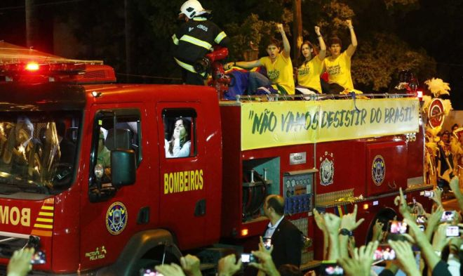 A chegada do corpo de Eduardo Campos para o velório no Palácio das Princesas
