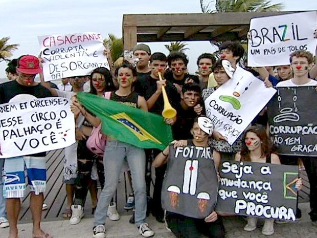 Protesto contra a corrupção, em 2011