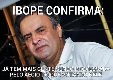 Aécio censura