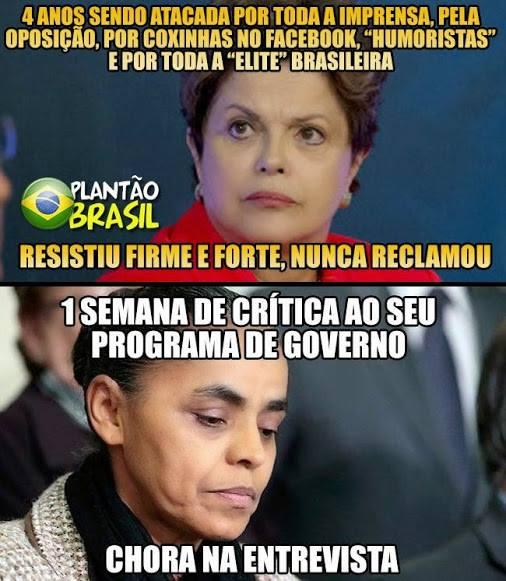 Dilma e Marina choro
