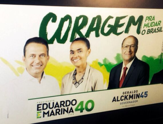 Quando Eduardo Campos era o cabeça de chapa esta era uma peça da campanha do PSB em São Paulo. Maria dizia que não tinha a autorização dela.