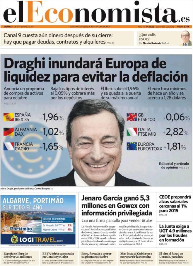 eleconomista. deflação europa