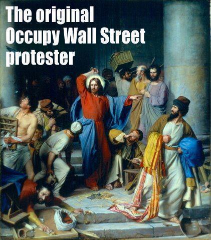 indignados Jesus expulsa mercadores