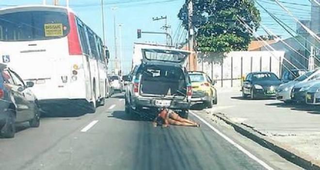 Mulher arrastada por viatura da PM RJ