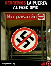 NO PASARAN fascismo nazistas indignados
