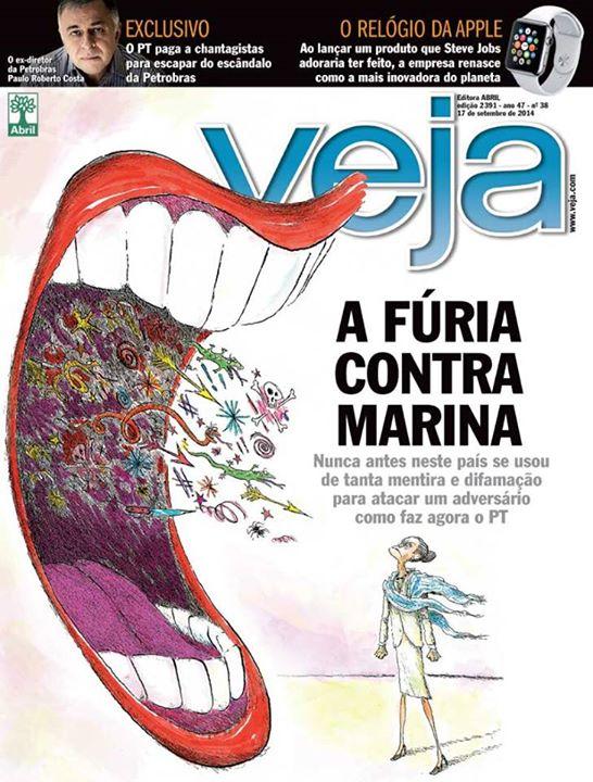 Veja fúria Marina