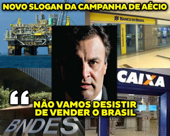 Aécio vender Brasil