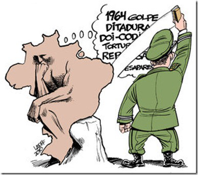 Apagando a memória, por Latuff