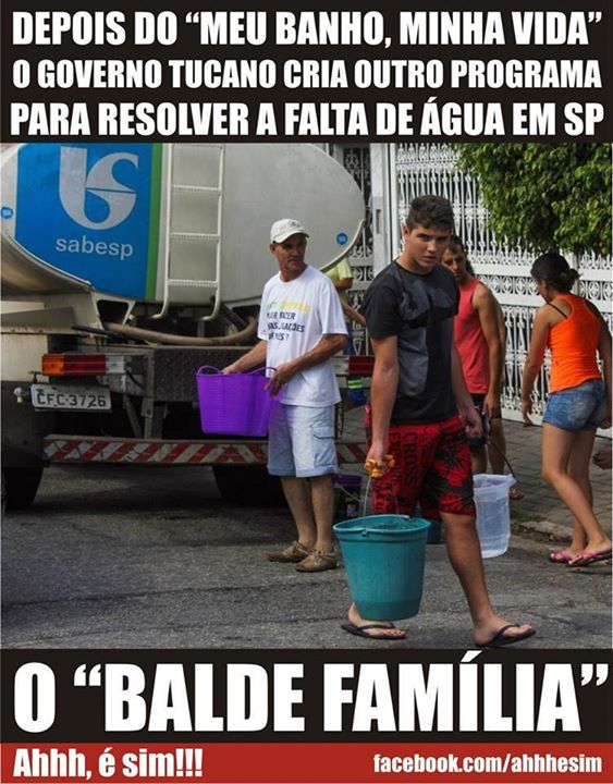 água balde