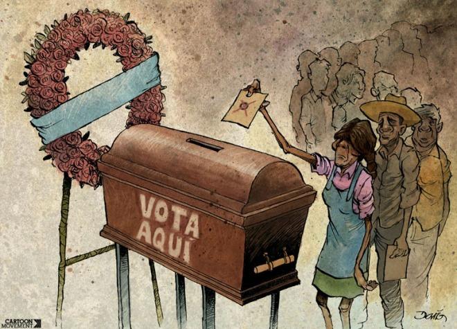 eleição caixão