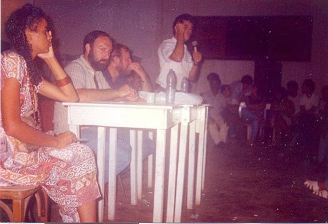 Marina Silva, Jair Meneguelli, Avelino Ganzer e Jorge Viana, em reunião da CUT