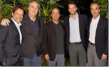 Nelson Sirotsky, Roberto Irineu Mainho, Jose Roberto Marinho, Eduardo Sirotskymelzer, João Roberto Marinho