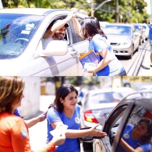 """Contato final com o eleitor pernambucano. """"Amanhã o nosso encontro é na urna!"""", convida Priscila"""