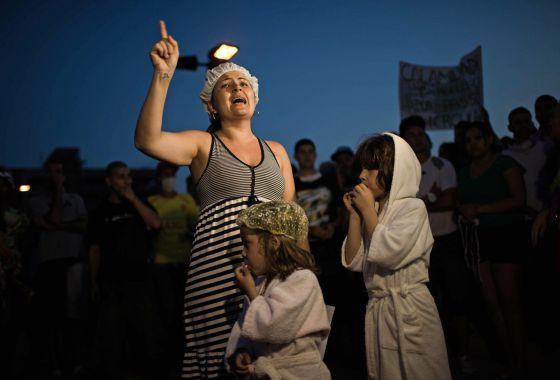 Protesto em Itu na terça contra a falta d'água: CASSIO ROOSEVELT (REUTERS)