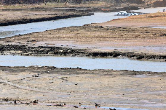 Reserva do volume morto da Represa Jaguari-Jacareí, em Joanópolis (SP), onde o volume de água armazenado é de apenas 16,6% da capacidade total: LUIS MOURA (ESTADÃO)