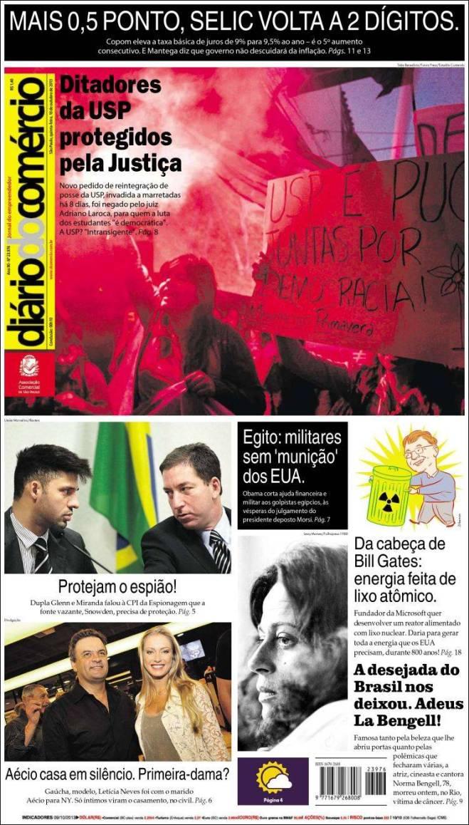 Um jornal que defende a política de Alckmin na USP