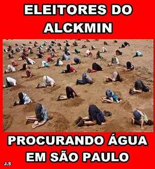 água eleitores alckmin