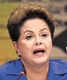 """""""No se puede confundir regulación económica con regulación de contenidos"""", precisó Dilma. Imagen: AFP"""