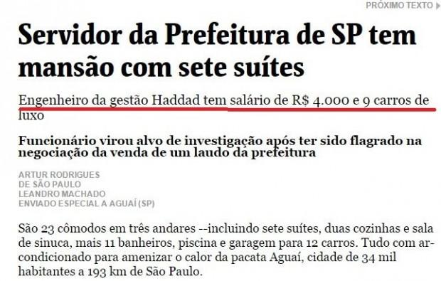 mentira da Folha