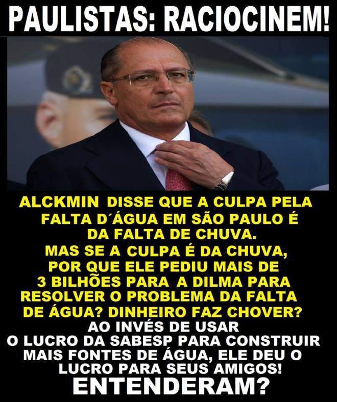alckmin água dinheiro dilma