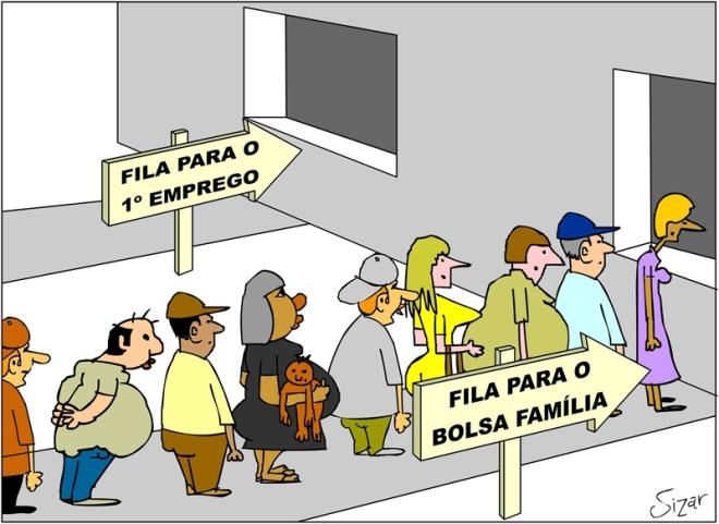 bolsa família emprego malandra