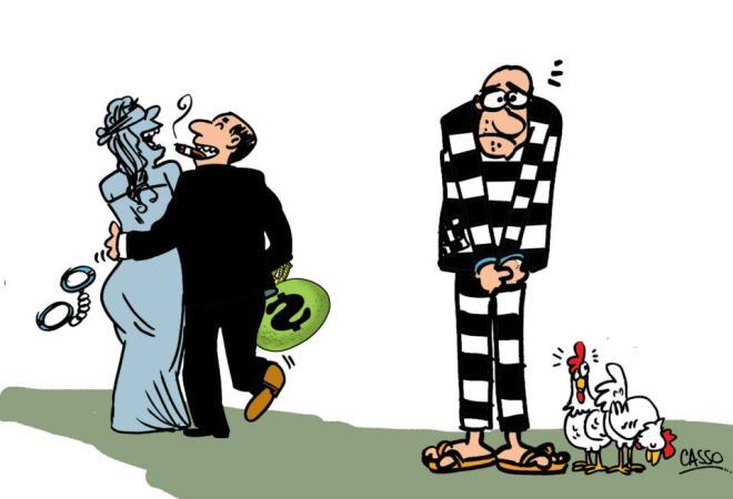 duas justiça ladrão galinha corrupção