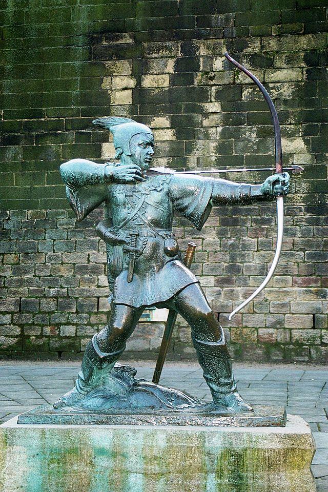 Robin Hood Memorial, em Nottingham, junto ao castelo