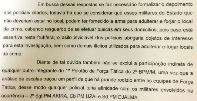 """Capitão da Corregedoria da PM de SP pede autorização judicial para buscar materiais ilícitos nas casas de 17 PMs. Drogas e armas seriam parte do """"kit flagrante"""" usado por PMs para justificar prisões irregulares e até mesmo homicídios (Reprodução)"""