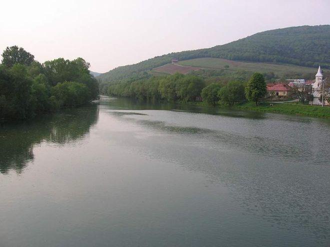 El río Laborec en Strážske.
