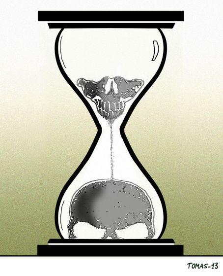 morte tempo relógio