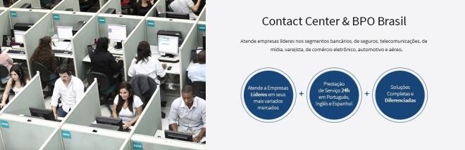 O local de trabalho na publicidade da Contax