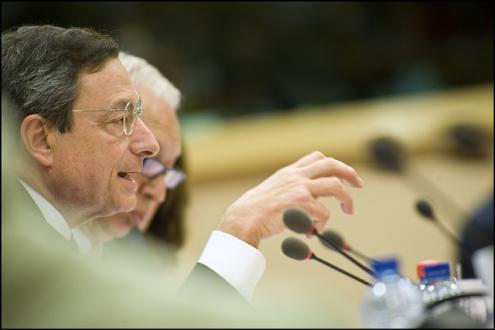 Draghi mostrou as garras do BCE. Foto de European Parliament